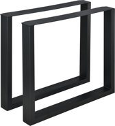 Meubelpoot tafelpoot 2 stuks set staal 80x72cm zwart