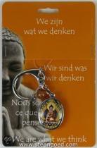 Boeddha sleutelhanger zittend