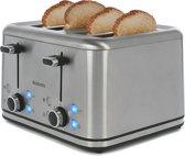 Brabantia BBEK1031N Broodrooster met 4 sleuven RVS 1800W