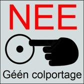bordje NEE Geen Colportage aluminium sticker bordje 5 jaar garantie Geen verkopers | bel niet aan sticker bordje geen collectes