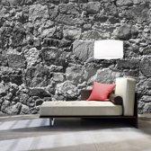 Fotobehang - Stenen gordijn In grijs