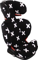 UKJE.NL Hoes zomerhoes autostoelhoes Maxi-Cosi RodiFix - Zwart met witte kruisjes ♥