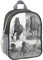 Rugzak - Paard - voor Meisjes - 28 cm - Grijs