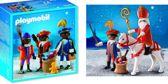 Playmobil Sinterklaas bundel: Sinterklaas en Zwarte Piet 4893 + Drie Zwarte Pieten 5040