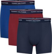 Tommy Hilfiger - Heren 3-Pack Brief Boxershorts Rood Blauw - M