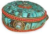 Hoofddeksel Turkoois antiek (49) - turquoise