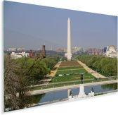 De National Mall bij daglicht in Washington Plexiglas 90x60 cm - Foto print op Glas (Plexiglas wanddecoratie)
