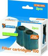 SuperFish AquaFlow East Click Cassette 100 - Aquariumfilter - 2 St