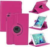 iPad Mini 4 Hoes Cover  360 graden Multi-stand Case draaibare donker roze