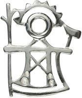 """AuBor ®,  Broche, Zilveren """"Ukko"""". God van de donder"""