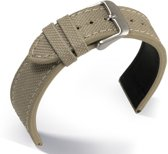 Horlogeband Canvas Beige - 20mm
