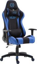 Clp Boavista  - Racing Bureaustoel - Stof - zwart/blauw, Zonder voetsteun