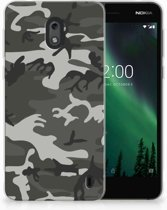 Nokia 2 Uniek TPU Hoesje Army Light