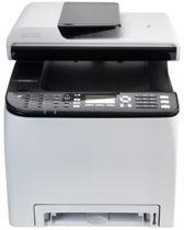 Ricoh SP C252SF - Multifunctionele printer - kleur - laser - Legal (216 x 356 mm) (origineel) - A4/Legal (doorsnede) - maximaal 20 ppm LED - maximaal 20 ppm (printend) - 250 vellen - 33.6 Kbps - USB 2.0, LAN, Wi-Fi(n), USB host