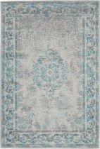 Vintage vloerkleed Dae 160x240 - Lichtblauw/Lichtgrijs