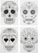 Hobby krimpfolie Day of the dead 4 vellen