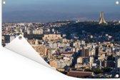 De skyline van de hoofdstad Algiers in Algerije Tuinposter 120x80 cm - Tuindoek / Buitencanvas / Schilderijen voor buiten (tuin decoratie)