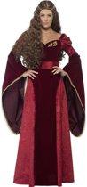Middeleeuwse koninginnen outfit voor vrouwen  - Verkleedkleding - Large