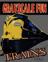 Grayscale Fun Trains Vol.1