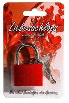 Rood liefdesslot 3,8 cm - Valentijn slot