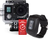 VIZU Extreme X8S - Wi-Fi 4K action camera incl. wrist remote