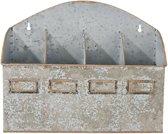 Vakkenbak 34*10*27 cm Distressed grijs | 6Y2688 | Clayre & Eef