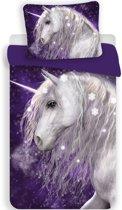 Unicorn Unicorn - Dekbedovertek - Eenpersoons - 140 x 200 cm - Paars