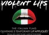 Lip tattoo rood/groen/wit