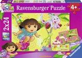 Ravensburger Dora Twee puzzels van 24 stukjes