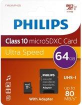 Philips FM64MP45B/10 flashgeheugen 64 GB MicroSDHC Klasse 10 UHS-I