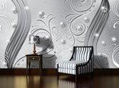 Silver Photomural, wallcovering