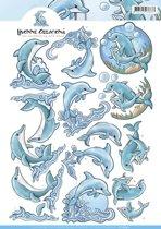 3D Knipvel - Yvonne Creations - Dolfijn