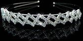 Stijlvolle asymmetrische Diadeem met  Kristallen