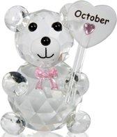 Kristalglas beer geboorte maand oktober