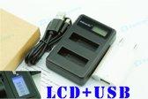 LCD usb Oplader voor GoPro dubbele accu AHDBT-201 301 Hero 3