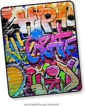 Elegante Plaid Graffity 130x160 - Prachtige Design - Heerlijk Zacht