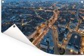 Luchtfoto van de Franse stad Nantes Tuinposter 90x60 cm - Tuindoek / Buitencanvas / Schilderijen voor buiten (tuin decoratie)