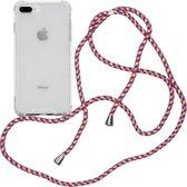 iMoshion Backcover met koord iPhone 8 Plus / 7 Plus hoesje - Paars