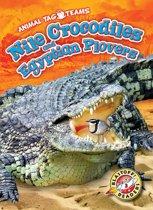 Nile Crocodiles and Egyptian Plovers