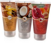 3 x  150ml Camille peeling shower gel Granaatappel