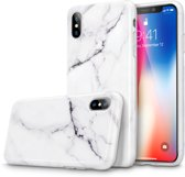 iPhone X / iPhone 10 bumper hoesje - ESR Vogue - Marble / Marmer - Wit