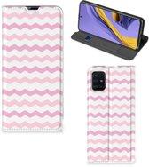 Samsung Galaxy A51 Hoesje met Magneet Waves Roze