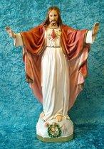 Jezus Heilig Hart van Montmartre - gips beeld 41 cm