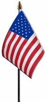 Amerika mini vlaggetje op stok 10 x 15 cm