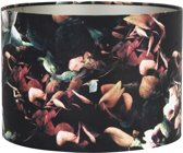 Light & Living Kap cilinder 35-35-30 cm Velours Hortensia Zwart