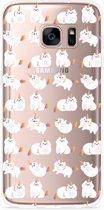 Galaxy S7 Edge Hoesje Unicorn Cat