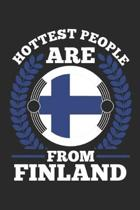 Hottest People Are From Finland: notebook/diary/taskbook/120 pages/dotgrid pages,6x9 inch