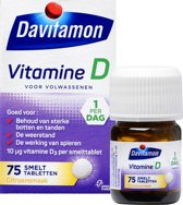Davitamon Vitamine D Volwassenen - Smelttablet 75 stuks - Voedingssupplement