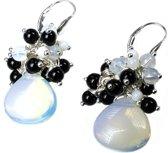 Bela Donaco Oorbellen Black dress - Opaal glas, glas en Onyx