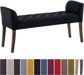 Clp Cleopatra - Chaise longue - Stof - zwart antiek donker